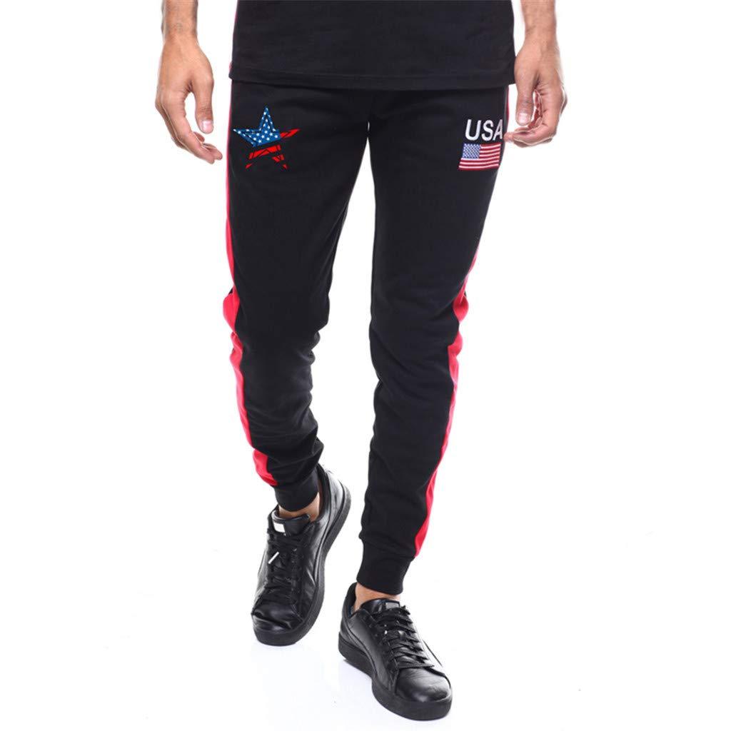 Pantalones de Chándal Casuales Jogging Entrenamiento Fitness Pantalones Largos Sueltos Casuales con cordón Moda Impresos Costura Rayas Cómoda Cintura Elástica MMUJERY