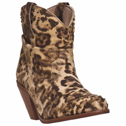 Leopard Print Leather Boot - Dingo Womens 6