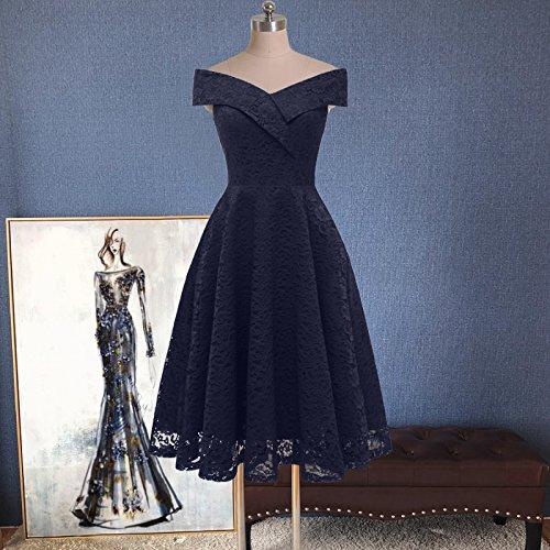 Kleid bordeauxrot knielang