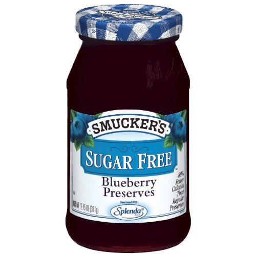(Smucker's Sugar Free Blueberry Preserves 12.75oz Jar (Pack of 3) by)
