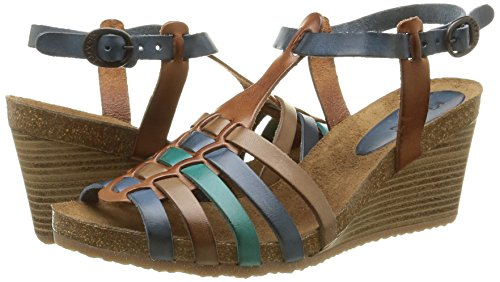 Marron Kickers Spain Marron Damen Sandalen Multico gtvxHtqW