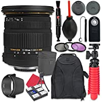 Sigma 17-50mm f/2.8 EX DC OS HSM Zoom Lens For Nikon + Accessory Bundle