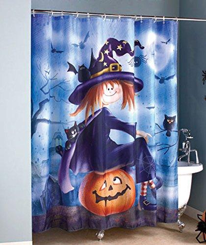 Halloween Witch Shower Curtain Amazoncouk Kitchen Home