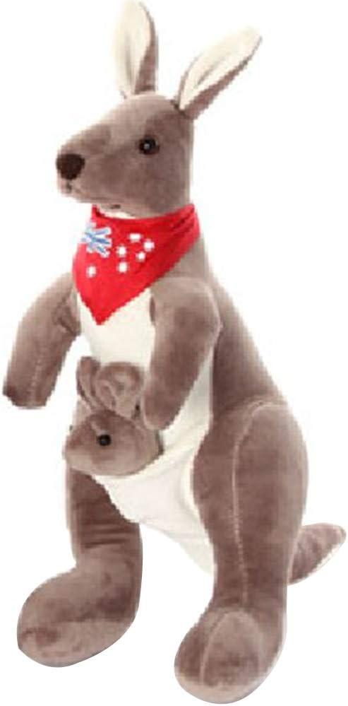 NiceButy - Muñeca de Peluche para bebé, Juguete calmante y cómodo, Juguete de Canguro para animación, Juguete de Peluche para Madre y bebé, Color Gris Oscuro