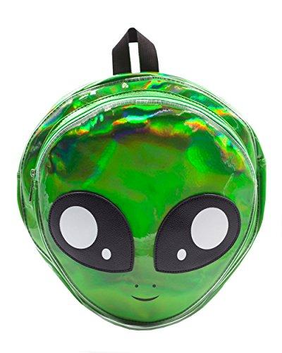 iHeartRaves Alien Hologram Backpack (Green) (Rave Clubwear Costumes)