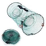 SODIAL Folding Fish Trap | Fishing Net | Collapsible Cast Mesh Landing Bait Net for Crab Shrimp Minnow Crawfish Catfish