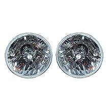 "5 3/4"" Clear Dot Tri bar H4 Headlights With Turn Signal Push in Bulb lamps"