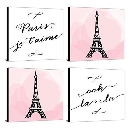 "Paris, Ooh La La - Kids Room, Nursery & Home Decor - 11"" x 11"" Kids Wall Art - Set of 4 Prints by Big Dot of Happiness (Image #7)"