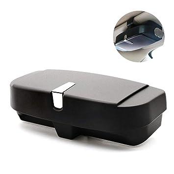 Car Glasses Case Organizer Box Sunglasses Holder Storage Pockets Multi-Function Sun Visor Buckle Storage Box Bill Card Storage Accessories