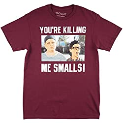 The Sandlot You're Killing Me Smalls Men's T-Shirt in Burgundy. S-2XL.
