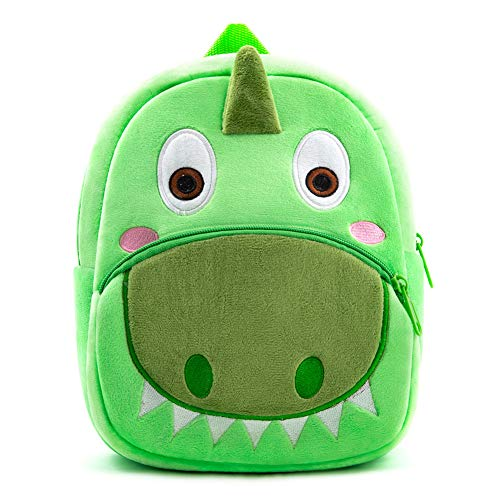 Nice Choice Cute Toddler Backpack Toddler Bag Plush Animal Cartoon Mini Travel Bag for Baby Girl Boy 1-6 Years (Green)