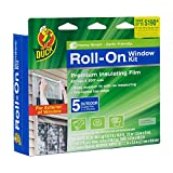 Duck Brand Roll-On Outdoor 5-Window Premium Insulating Film Kit, 62-Inch x 200-Inch, 281072