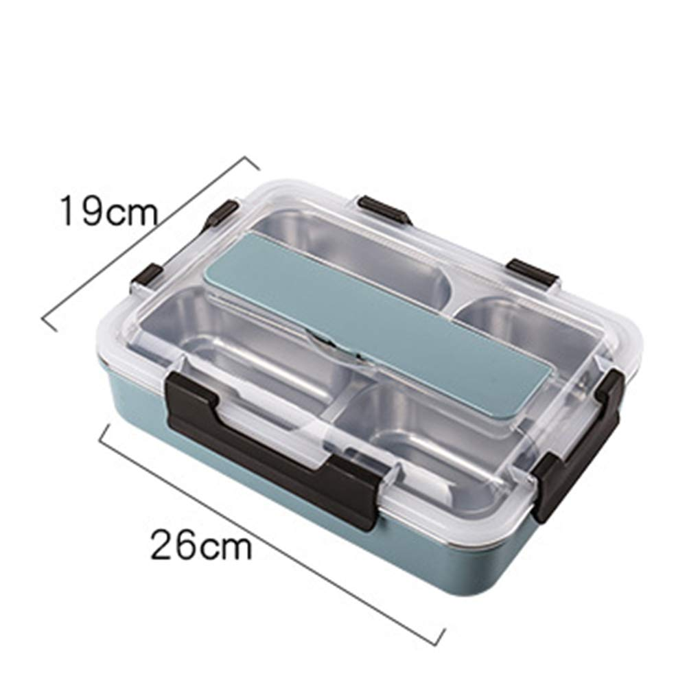 Picnic Box, 3-5 Grid Insulation Portable Large Capacity Sealed Stainless Steel Lunch Box for Outdoor Family Students by LTLSF