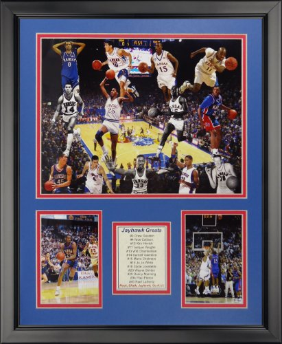 Legends Never Die NCAA Kansas Jayhawks Greats Framed Photo Collage, 18