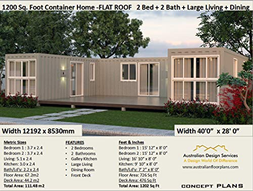 Beautiful 2-bedroom Home Shipping Container Home Concept ... on 1200 square feet 3 bedroom house plans, two bedroom 2 bath house plans, 1200 square feet home,