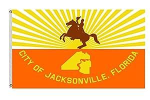 Ciudad de Jacksonville bandera y bandera Tamaño 3X 5pies