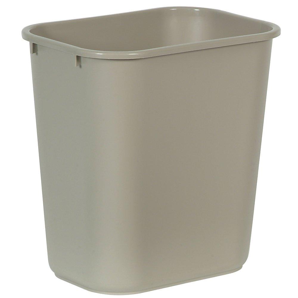 Rubbermaid Commercial Standard Wastebasket, 15&quot x 10.3&quot x 14.4&quot, Beige