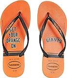 Havaianas Unisex Slim MLB San Francisco Giants Sandal (41-42 M Bra, Neon Orange)