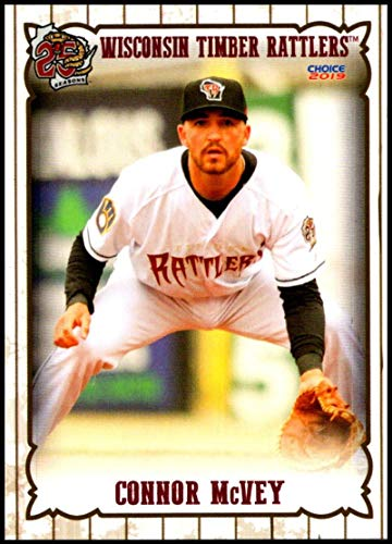 2019 Choice Wisconsin Timber Rattlers #16 Connor McVey NM-MT Wisconsin Timber Rattlers Officially Licensed MiLB Baseball Trading Card ()