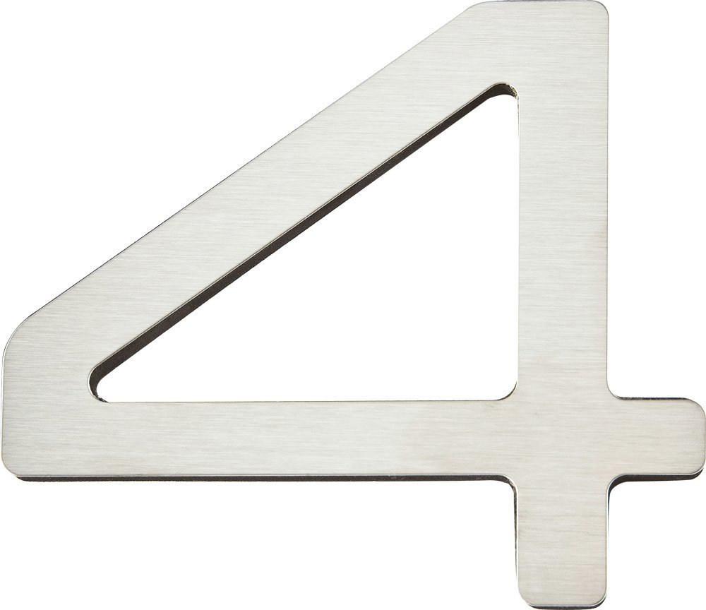 tlas Homewares PGN4-SS 4-Inch Paragon House Number-4, Stainless ... - ^