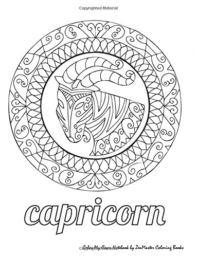 Color My Cover Notebook  Capricorn   Therapeutic Notebook For Writing  Journaling  And Note Taking With Coloring Design On Cover For Inner Peace      Coloring Notebooks And Journals   Volume 10
