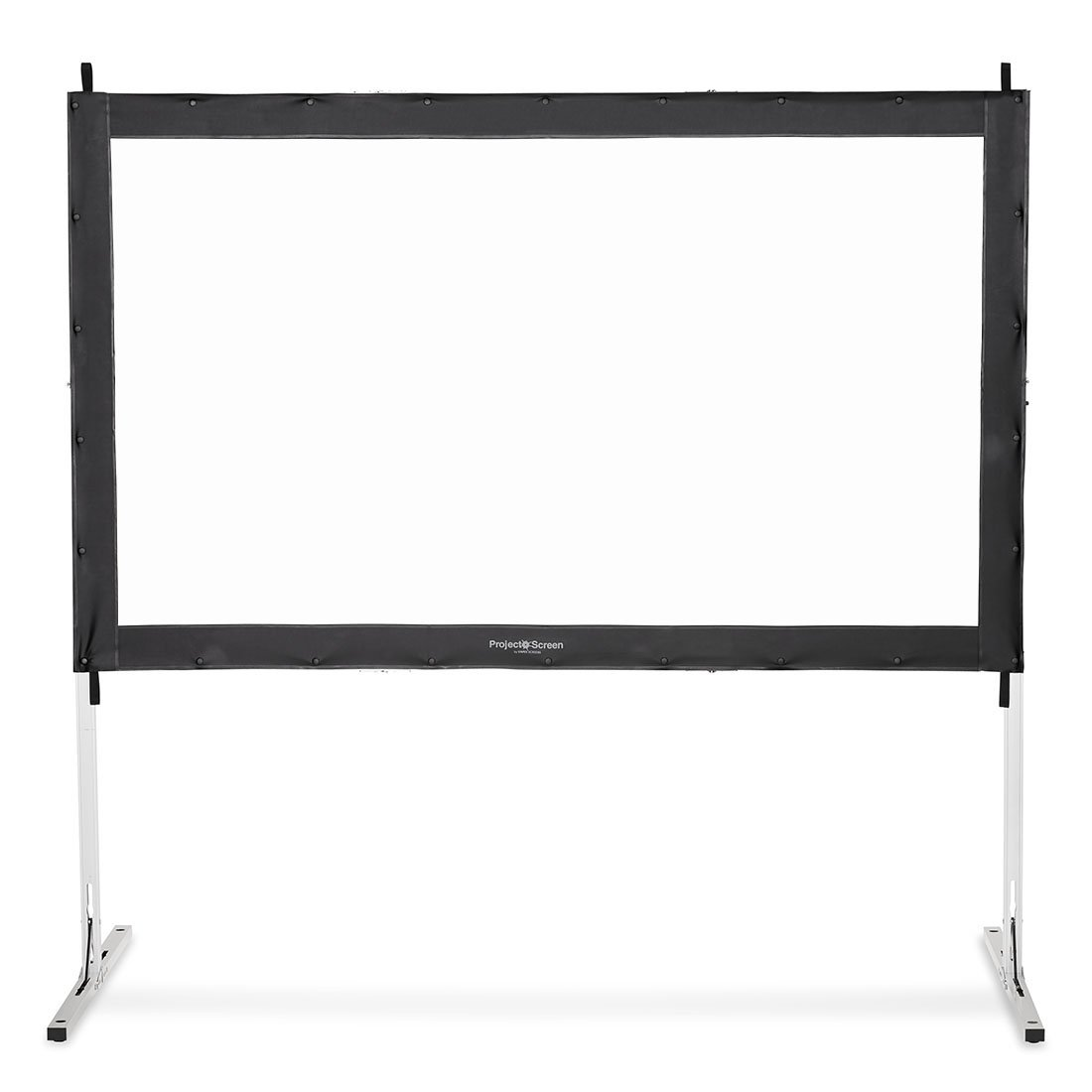 Visual Apex Projector Screen 120HD Portable Indoor/Outdoor Movie Theater Fast-Folding Projector Screen with Stand Legs and Carry Bag HD4K 16:9 format