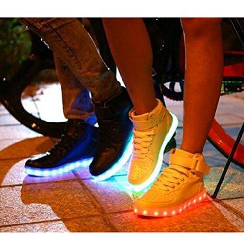Top Lackleder JUNGLEST® USB LED 7 Handtuch Turnschuhe kleines c18 Herren Aufladen Glow für Dam Leuchtend Farbe Unisex Present High Sport Schuhe Sneakers tEXqnW