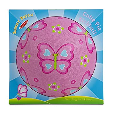 Melissa & Doug Sunny Patch Cutie Pie Butterfly Classic Rubber Kickball: Toys & Games