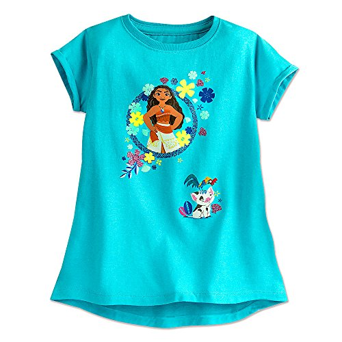 Disney Moana Fashion Tee for Girls Blue 456211807684