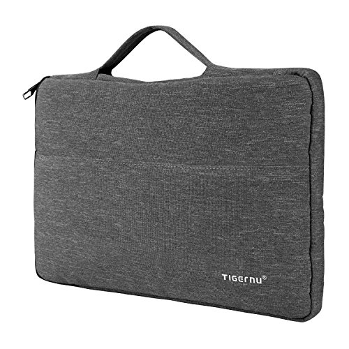 TIGERNU 15 15.6 Inch Laptop Case Sleeve Bag with Accessory Pocket and Luggage Strap for MacBook Air/Macbook Pro/Laptop/Notebook/Chromebook/Ultrabook/Tablet,Dark (Laptop Sleeve Protector)