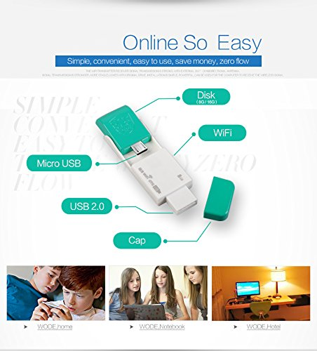 KuWFi U WIFI 150Mbps Strong WIFI USB wireless adapter for android with OTG USB Flash Drive OTG U disk Soft AP & Wifi USB Adapter 2 in 1 Function with Multiful Colors