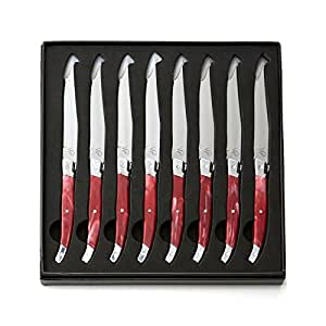 puck kitchen knives amazon com wolfgang puck 8 piece carbon stainless steel
