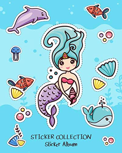 Sticker Collection Sticker Album: Blank Permanent Sticker Book
