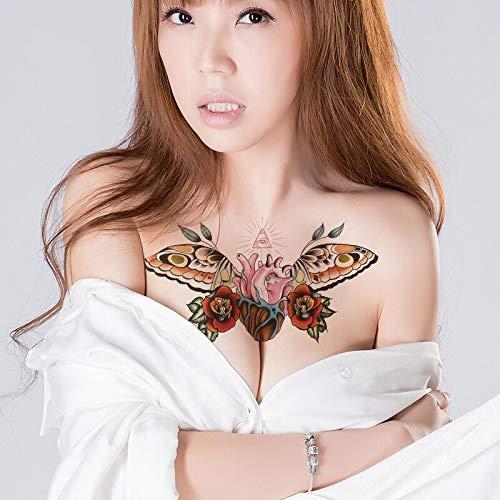 tzxdbh esternón Tatuaje Temporal Pecho Tatuaje Temporal Mujer ...