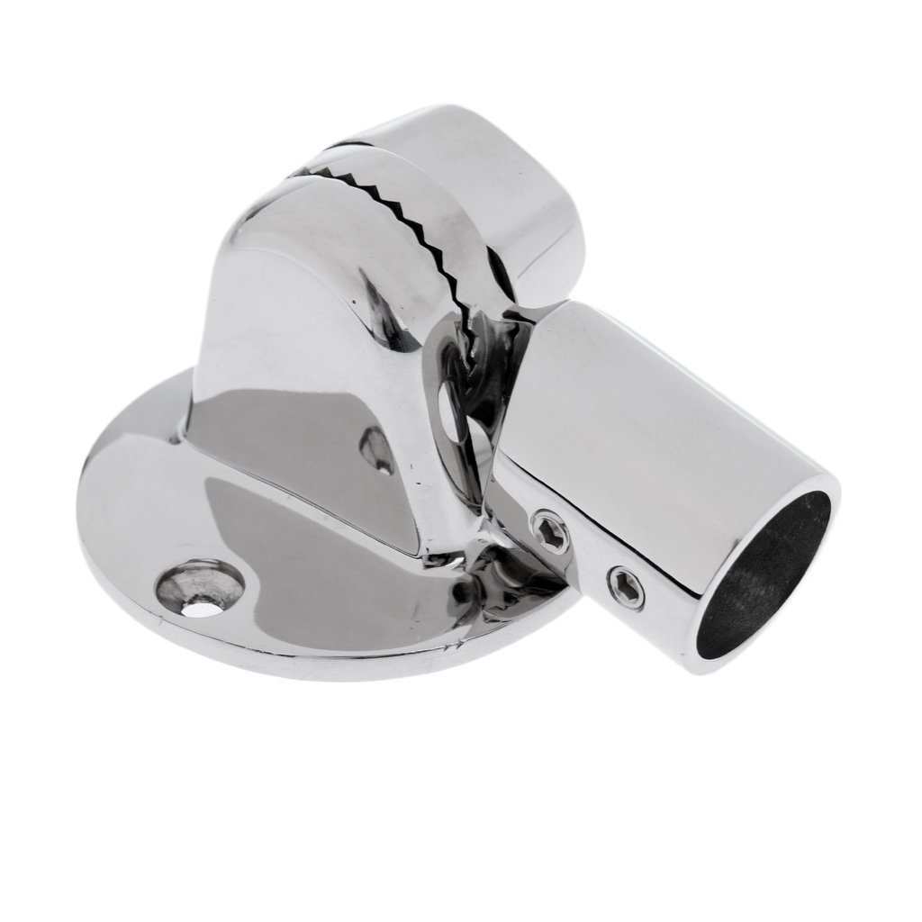 MagiDeal High Polished 316 Stainless Steel Ratchet Mount for Marine Boat VHF Radio Antenna