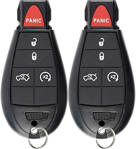 - KeylessOption Keyless Entry Remote Smart Key Fob Ignition Alarm for Dodge Dart M3N32297100 (Pack of 2)