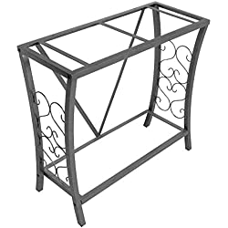 Aquatic Fundamentals 102292, 29 Gallon Metal Aquarium Stand, Classic Scroll Design, Gray