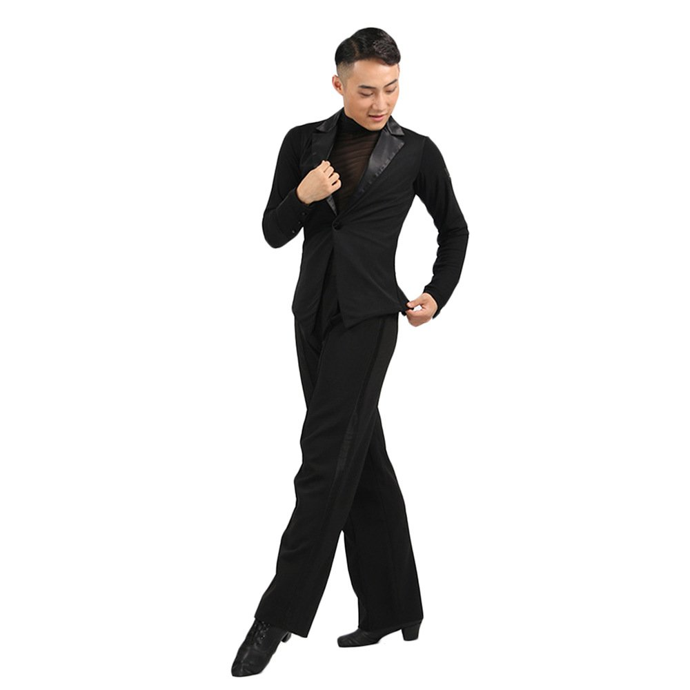 Latin Dance Shirt For Male/Men Grey Color Wear Long Sleeve Modal Tops Clothes