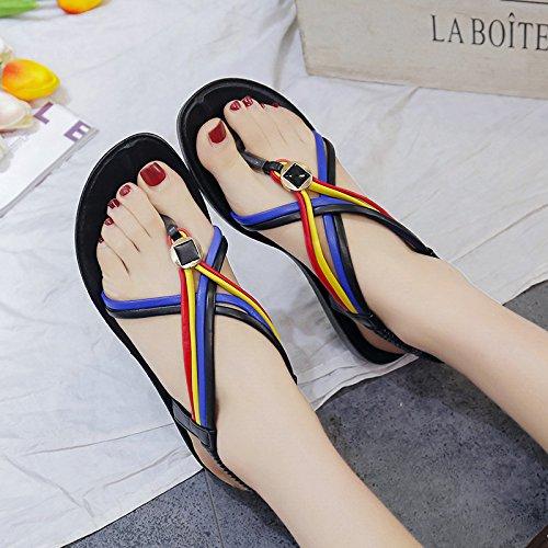 ITTXTTI Dedo Mujer con para Sandalias Verano Clip de pie para del xxRTOq