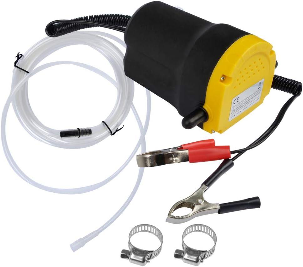 QLOUNI Bomba Extractora de Aceite Eléctrica 12V 60W para Coche Extractores de Fluidos Cambio Diesel, Aceite de Motor