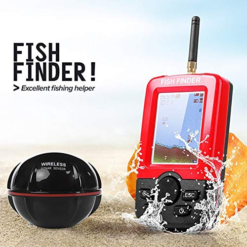 Portable Wired LCD Fishfinder Fish Finder Depth Echo Sounder Sonar Tracker Range 100m/109yd for Fishing Tackle