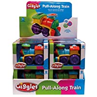 Giggler Colourful Pull Along String Toy Train for Baby/Toddler