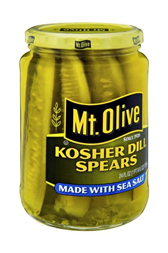 Sea Spear - Mt. Olive Kosher Dill Spears Made with Sea Salt 24 Oz (Pack of 2)