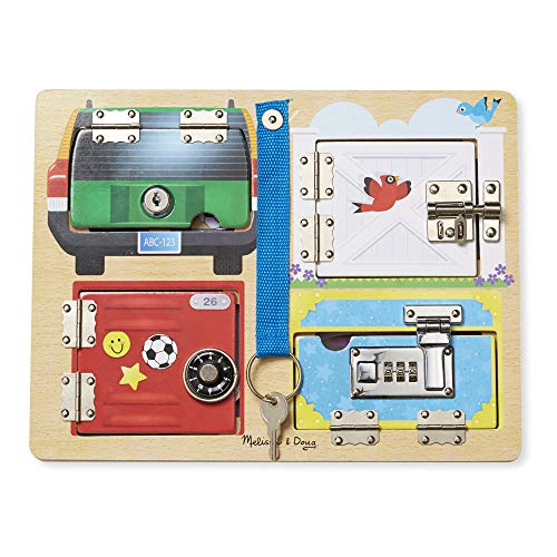 Melissa & Doug Locks & Latches Board Wooden Educational Toy (Sturdy Wooden Construction, Helps Develop Fine-Motor Skills) by Melissa & Doug (Image #5)
