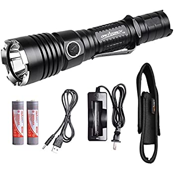 ORCATORCH T30 High Performance USB Rechargeable Tactical LED Flashlight Hunting Light