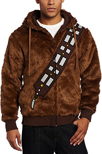CosplaySky Star Wars Chewbacca Hoodie Jacket Furry I Am Chewie Sweatshirt Costume Medium (Star Wars Chewbacca Costume)