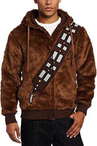 CosplaySky Star Wars Chewbacca Hoodie Jacket Furry I Am Chewie Sweatshirt Costume X-Large (Adult Chewbacca Costume)