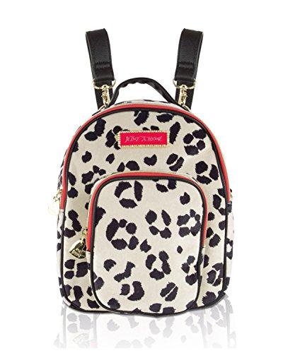 Betsey Johnson Women's Velvet Mini Convertible Crossbody Backpack - Cheetah Print