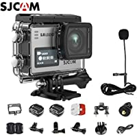 SJCAM SJ6 Kit Including Extra Battery, SJCAM Long Microphone(Length:142cm)  SJ6 LEGEND Dual Screen 2″ LCD Touch Screen 2880×2160 Novatek NT96660 MN34120PA CMOS 4K Ultra HD Sport DV Action Camera