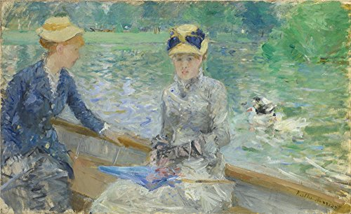 The High Quality Polyster Canvas Of Oil Painting 'Berthe Morisot Summer's Day ' ,size: 10 X 16 Inch / 25 X 42 Cm ,this High Definition Art Decorative Canvas Prints Is Fit For Dining Room Artwork And Home Artwork And Gifts (Mascara Blanca Halloween)